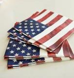 Serviettes de drapeau américain Photos libres de droits