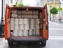 Serviettes de papier de la livraison Photos libres de droits