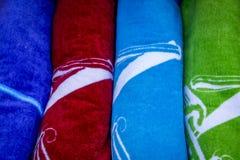 Serviettes de plage Photos stock