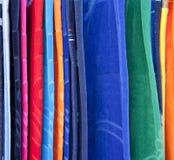 Serviettes de plage sur l'affichage Photos stock