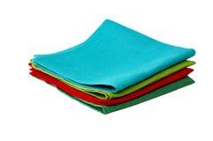 Serviettes de table de lin textile Photos stock