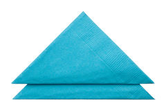 Serviettes de triangle d'isolement sur le fond blanc Photo libre de droits