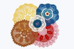 Serviettes du tricotage manuel Photographie stock