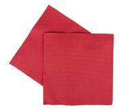 Serviettes/serviettes de fête de Noël, d'isolement Images libres de droits