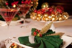 Serviettes vertes 2 de Noël Photos stock