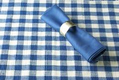 Servilleta azul Imagen de archivo