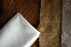 Servilleta blanca Imagen de archivo libre de regalías