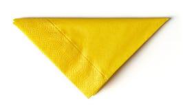 Servilleta de papel amarilla Imágenes de archivo libres de regalías