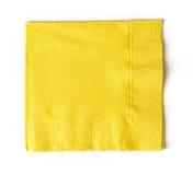 Servilleta de papel amarilla imagen de archivo libre de regalías