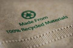 Servilleta de papel reciclada Imagen de archivo