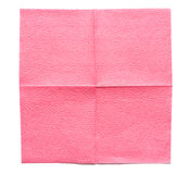 Servilleta de papel rosada Imagen de archivo