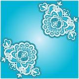 Servilleta floral azul Fotos de archivo