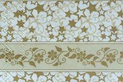 Servilleta hermosa del vintage, motiv de la Navidad, fondo, textura de papel Fotografía de archivo libre de regalías
