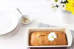 Servilleta rayada de la torta del limón Imagen de archivo