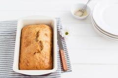 Servilleta rayada de la torta del limón Imagen de archivo libre de regalías
