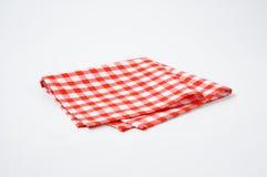 Servilleta roja y blanca fotografía de archivo