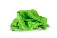 Servilleta verde Fotos de archivo libres de regalías