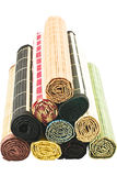 Servilletas de bambú coloreadas Fotos de archivo