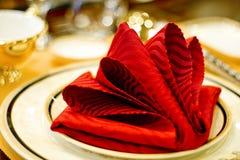 Servilletas rojas Fotos de archivo libres de regalías
