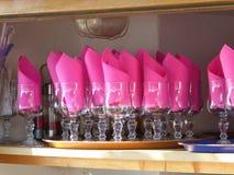 Servilletas rosadas fotografía de archivo
