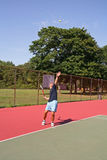 Serving A Tennis Ball Stock Image