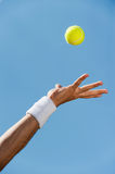 Serving ball. Stock Images