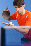 Serving a ball. Royalty Free Stock Photo