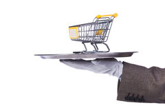 Serving the best shopping service Stock Photography