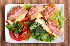 Serving breakfast Stock Images