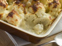 Serving of Cauliflower Cheese Royalty Free Stock Image