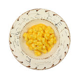 Serving of cauliflower with cheese sauce in bowl Royalty Free Stock Image
