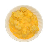 Serving of cauliflower with a cheese sauce in a bowl Stock Images