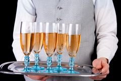 Serving champagne Royalty Free Stock Photography
