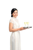 Serving champagne Royalty Free Stock Images