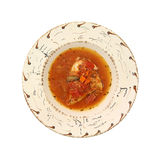 Serving or chicken cacciatore in bowl royalty free stock images