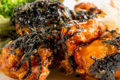 Serving of chicken in  sauce Royalty Free Stock Image