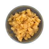 Serving of chopped rutabagas in bowl Stock Image