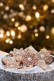 Serving Christmas cookies Stock Photos