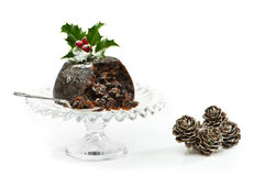 Serving Of Christmas Pudding Royalty Free Stock Photography