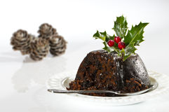 Serving Christmas Pudding Stock Images