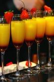 Serving cocktails. Tequila Sunrise. stock photos