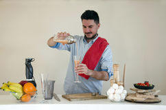 Serving coctail Royalty Free Stock Photo