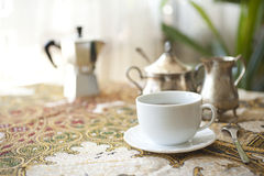 Serving coffee Royalty Free Stock Photography