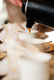 Serving coffee Royalty Free Stock Photos
