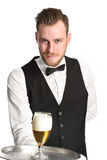 Serving a cold beer! Royalty Free Stock Photo