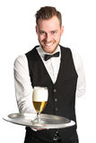 Serving a cold beer! Royalty Free Stock Image