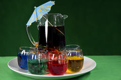 Serving Colorful Beverages Stock Photos