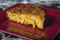 Serving Corn Bread on a plate Stock Images