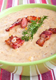 Serving of corn cream soup Royalty Free Stock Image