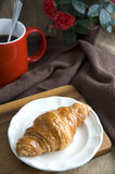 Serving croissant and coffee Stock Photography
